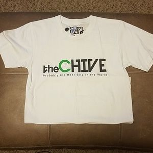 American Apparel Tops - Small White Chive Tshirt